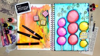 Vibrant and Easy Art Journal Page!