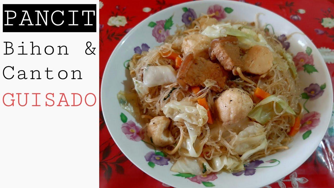 how to cook pancit canton bihon guisado