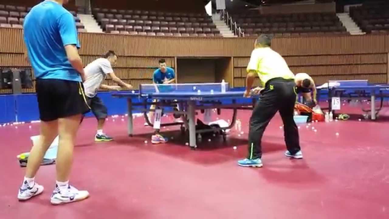 Liu guoliang and ma long at the 2014 world team table - Table tennis world championship 2014 ...