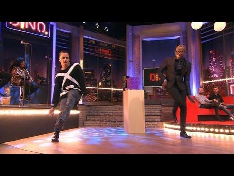 Timor en Jandino showen dancemoves - DINO.