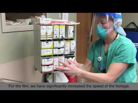 Preparación para cesárea urgente COVID-19+