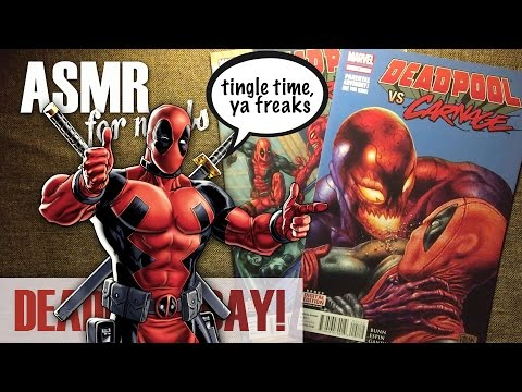 Deadpool Day! - ASMR Comic Book Reading - whispering, page turning, book