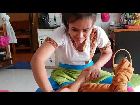 Thai reflexology foot massage |  Pattaya, Thailand | ASMR massage