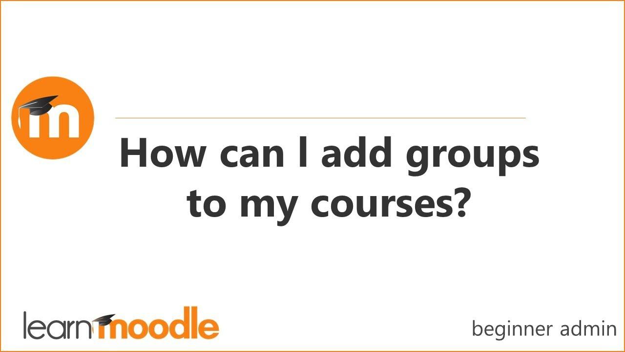 Groups - MoodleDocs