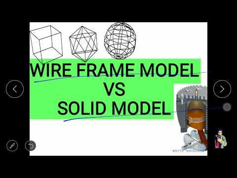Wire Frame Modeling VS Solid Modeling | Diffrence Between Wire Frame Model and Solid Model | GTU |
