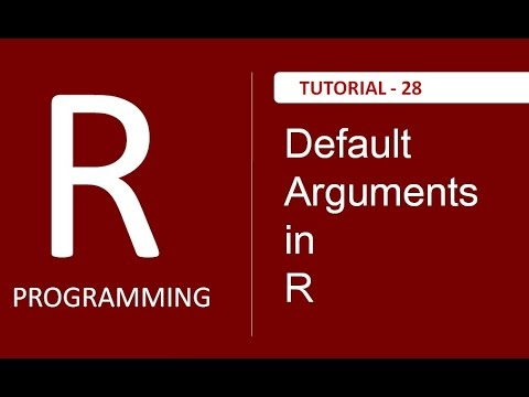Understading Default Arguments In R : Tutorial # 28