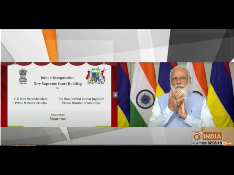 PM Modi, PM of Mauritius  jointly inaugurate, via VC, the new Supreme Court Building of Mauritius.