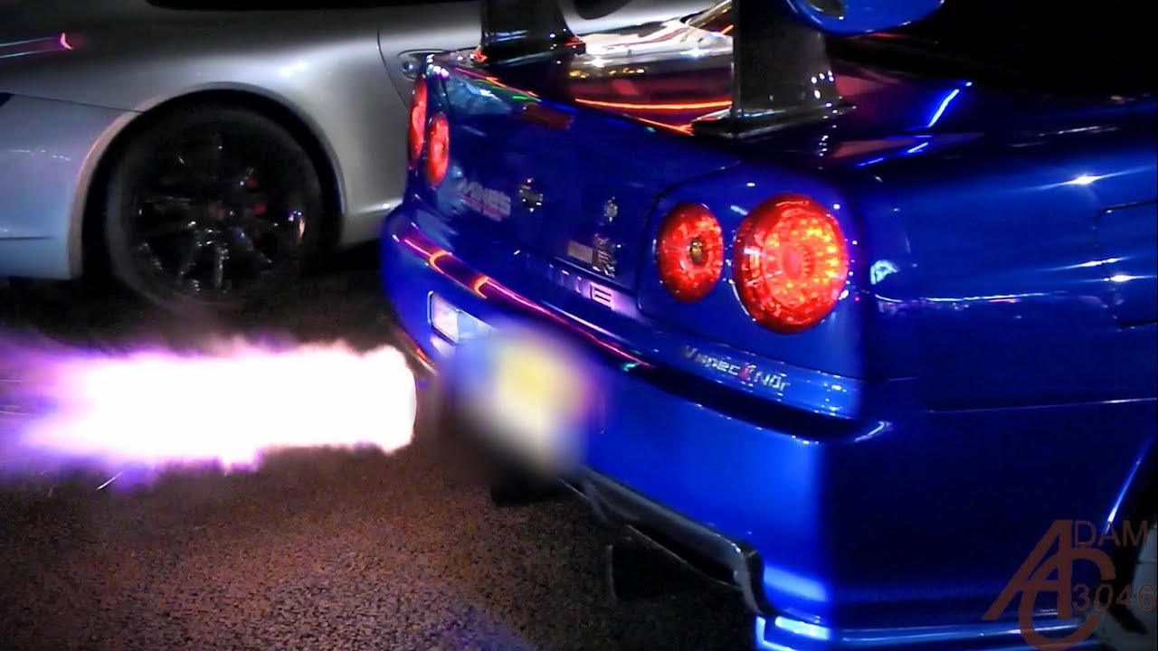 Fast And Furious 8 Cars Wallpaper Hd Nissan Skyline Gtr R34 Anti Lag Launches Youtube