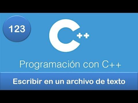 123. Programación en C++ || Archivos || Escribir en un archivo de texto