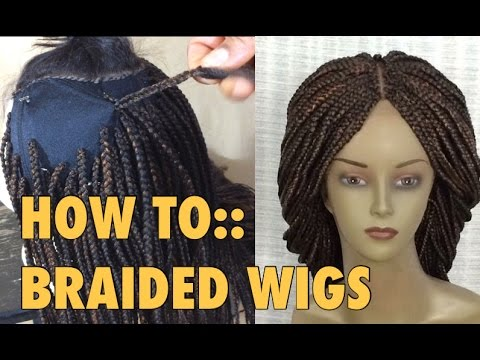 BRAIDED WIG  5 ways to attach extensions to wig cap - YouTube d0416ff7107f
