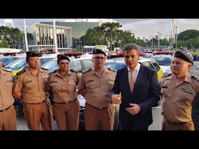 151 viaturas para a Polícia Militar do Paraná