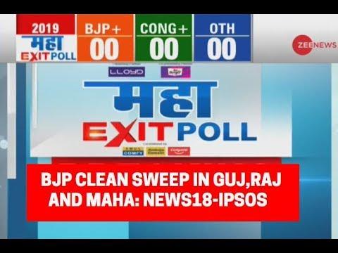 Maha Exit Poll 2019: BJP Clean Sweep in Gujarat, Rajasthan and Maharashtra; News18-IPSOS predicts