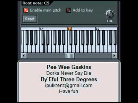 Synth Cover Pee Wee Gaskins - Dorks Never Say Die
