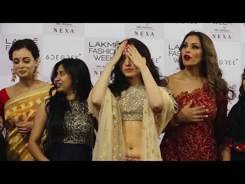 Bipasha Basu Showstopper For Designer Reshma Kunhi At Lakme Fashion Week 2018