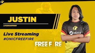 "ONIC Esports Live Stream FREEFIRE Indonesia ""Kuy Mabar Bareng ONIC.Justin"""