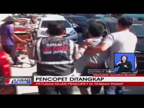 Aksi Kejar-kejaran Petugas dan Copet yang Ketahuan Beraksi di Pasar Mp3