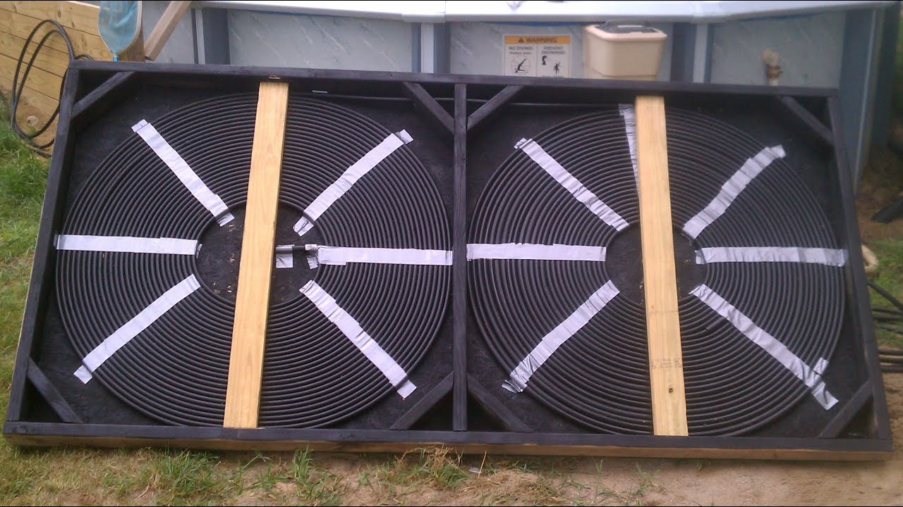 Solar pool heater and diverter youtube for Garden pool heater