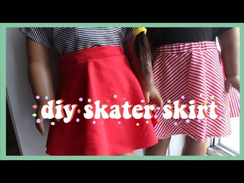 HOW TO DIY SKATER SKIRT FOR AMERICAN GIRL DOLL
