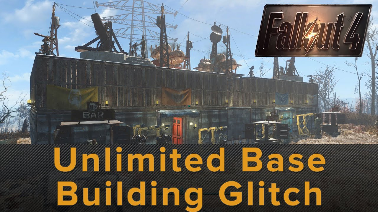 Fallout 4 unlimited base building glitch trick youtube for Builders unlimited