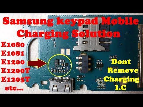 How To Repair Samsung Mobile Charging Not Show Solution / SAMSUNG E1200 FAKE Charging Problem