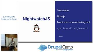 Automate your testing with Nightwatch.js - DrupalCampSG 2018