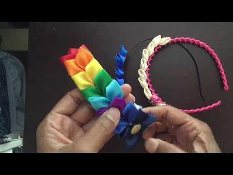 Kanzashi Flower! DIY Hair Band! Satin Ribbon Hair Clip! Satin Ribbon Hair Band!