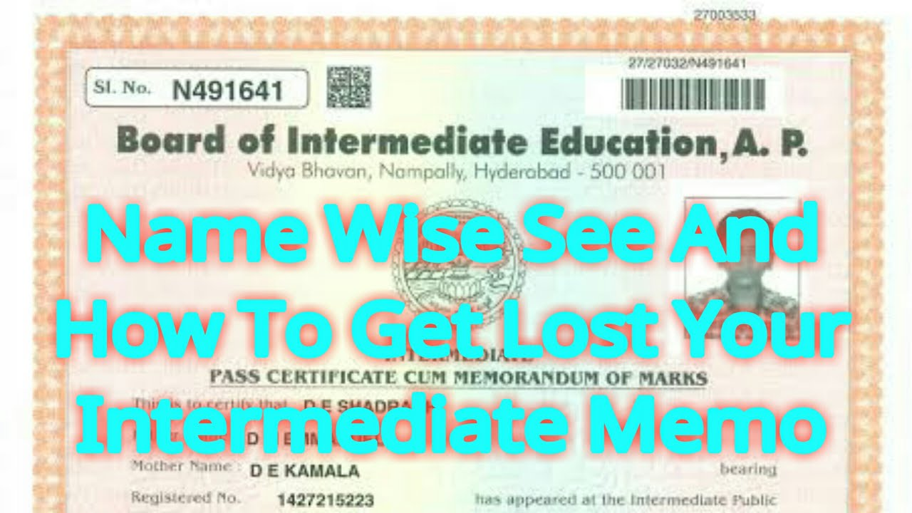 Name Wise See And How to Get Lost Your Intermediate Memo - YouTube