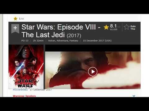 i put spongebob music over Star Wars: The Last Jedi IMDB user reviews