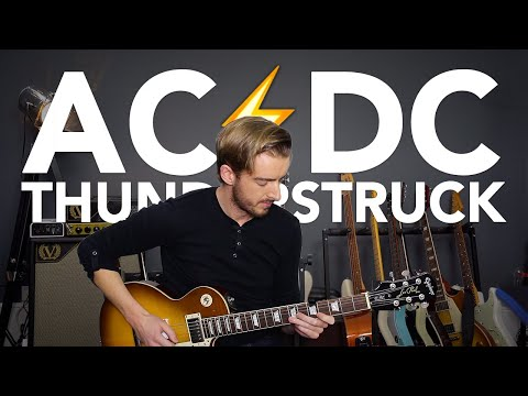 THUNDERSTRUCK Guitar lesson Tutorial ACDC HOW TO PLAY IT FAST