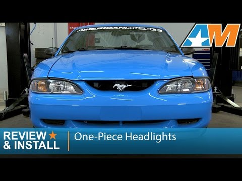Chrome//Clear Headlights for 1994-1998 Ford Mustang Cobra