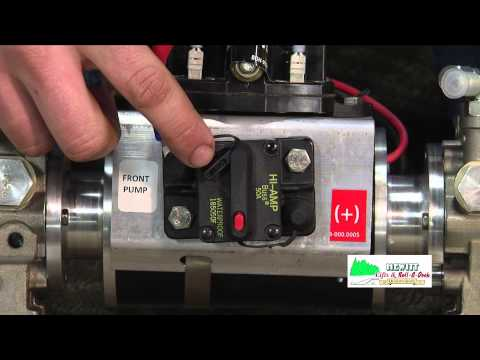 Resetting the circuit breaker on Hewitt Hydraulic Pontoon Legs