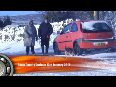 Winter Snow Uk January 2017 County Durham Youtube
