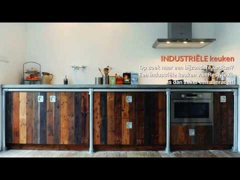 Industriële keukens   restylexl keukens met industriële invloeden