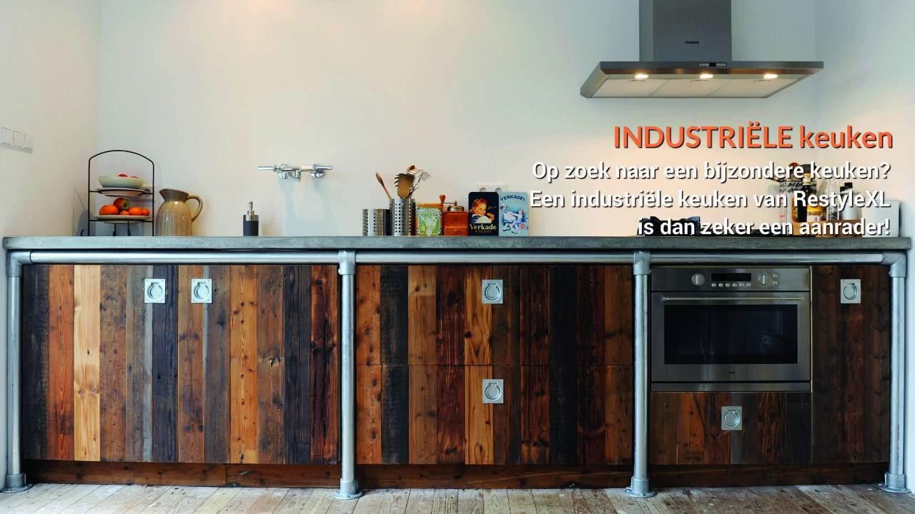Houten industriële keuken restylexl maakt de mooiste houten