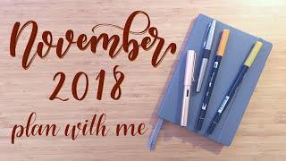 Plan With Me | November 2018