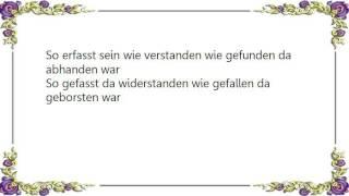 Garish - Von Rot Zu Rot Lyrics