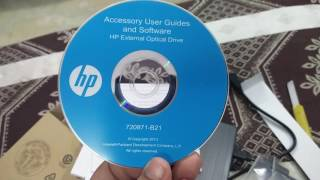 Unboxing HP USB external DVD writer model no GP70N