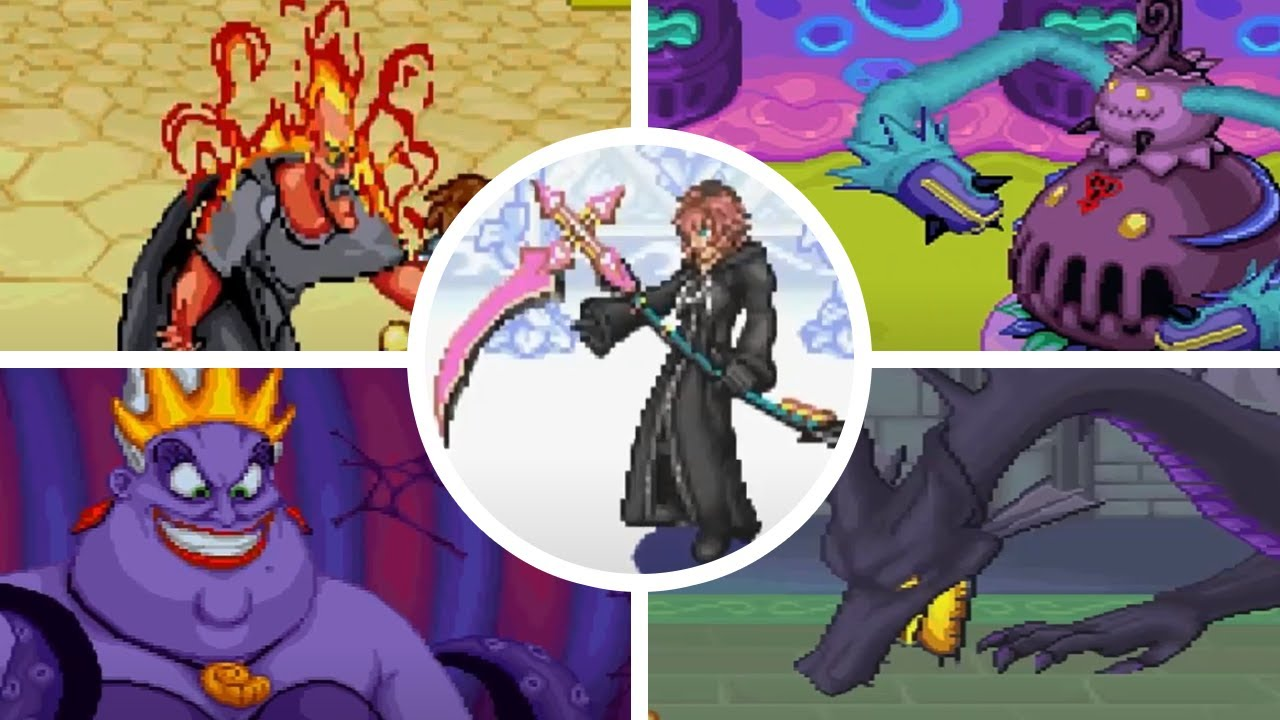 Kingdom Hearts - Chain Of Memories (GBA) - All Bosses