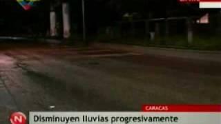 Lluvias en Caracas Bomberos en El Valle