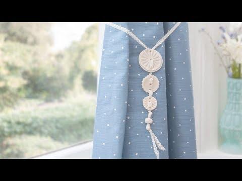 craft corner how to make a curtain tie back using salt dough youtube. Black Bedroom Furniture Sets. Home Design Ideas