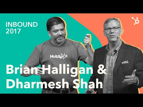 INBOUND 2017 Brian Halligan & Dharmesh Shah Keynote - YouTube