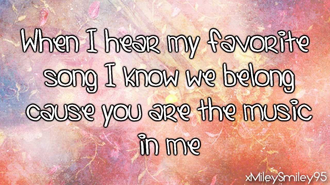 Music in me sharpay lyrics