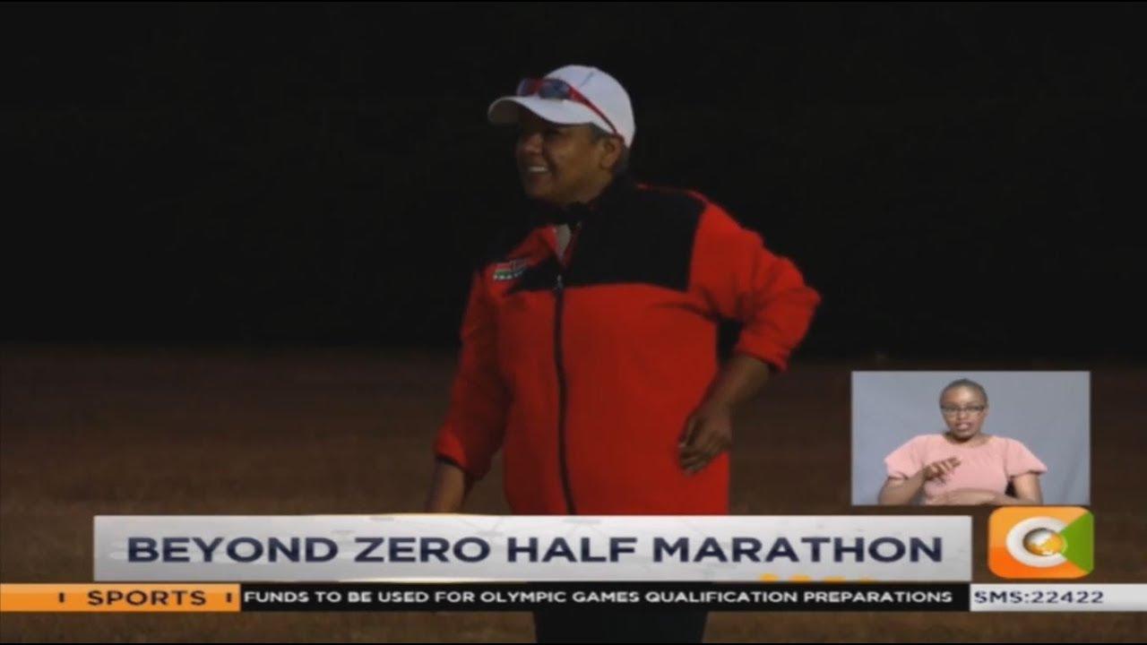 First Lady Margaret Kenyatta trains for 21 KM Beyond Zero run