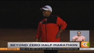 First Lady Margaret Kenyatta trains for 21 KM Beyond Zero run