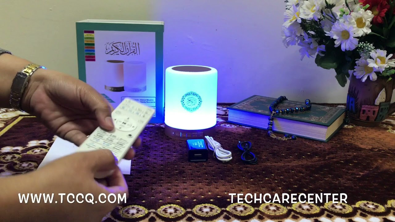 Portable Quran Touch C3ls5a4rjq Speaker Bluetooth Led Lamp w0kNnO8PX