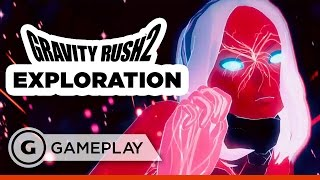 Gravity Rush 2 Exploration Gameplay