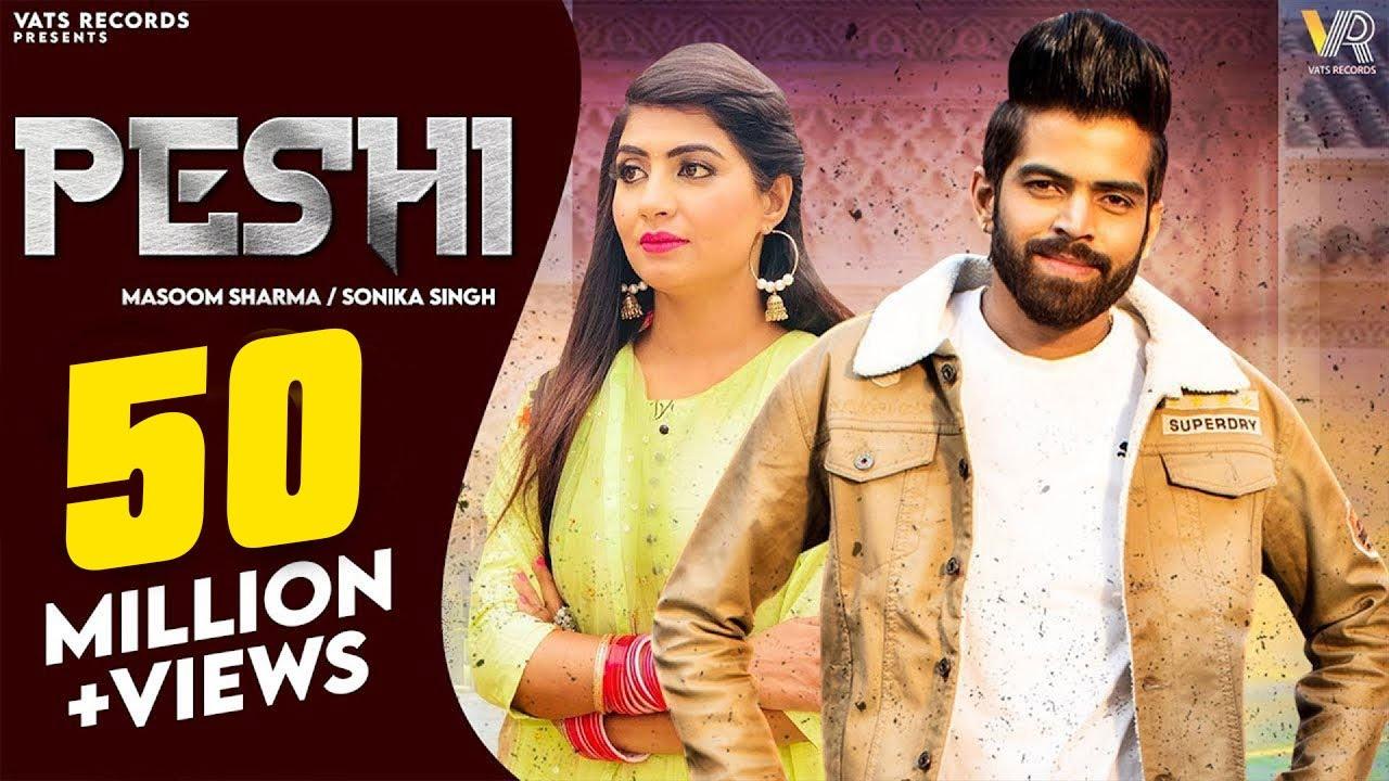 PESHI | Masoom Sharma, Manisha Sharma | Sonika Singh, Monu S | New Haryanvi Songs Haryanavi 2021