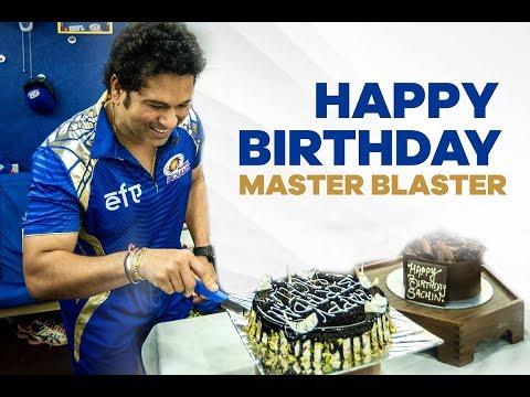 Happy Birthday Master Blaster | Sachin Tendulkar | Mumbai Indians