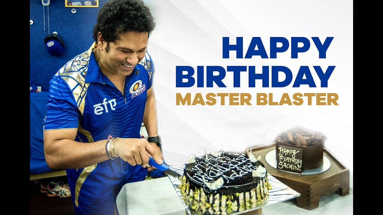 Happy Birthday Master Blaster | Sachin Tendulkar | Mumbai Indians - YouTube