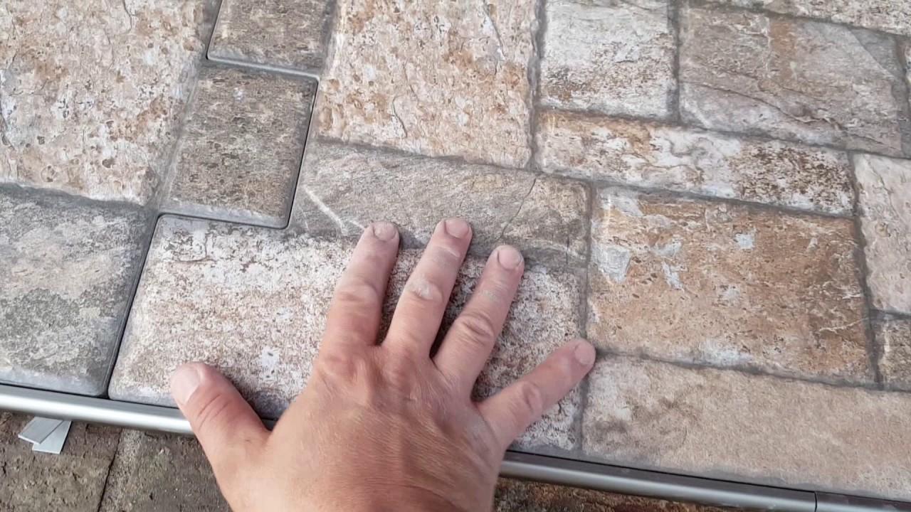 Instalaci n de losas con estilo de piedra youtube - Losas de piedra para jardin ...